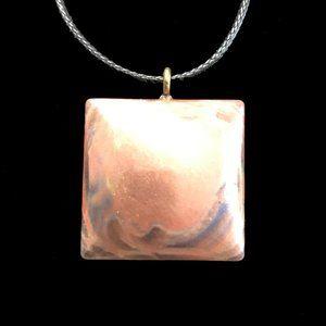 NWOT Wearable Art Resin Pendant, Resin Art